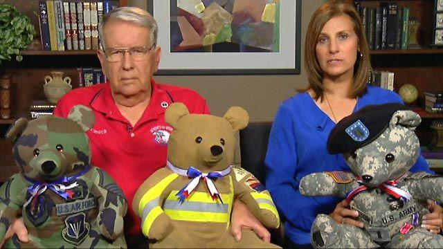 Stuffed bears offer comfort to families of fallen heroes