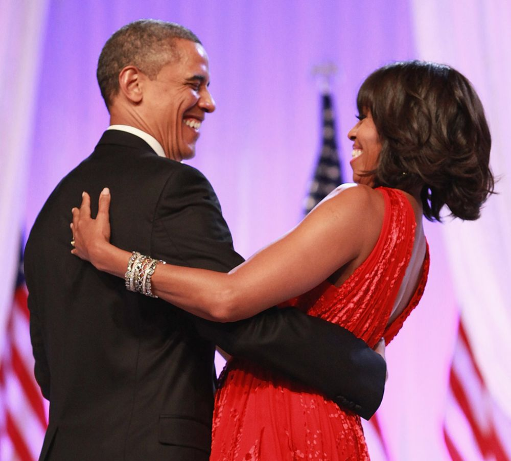 WASHINGTON, DC - JANUARY 21: President Barack Obama and First Lady Michelle Obama attend the Inaugural Ball on January 21, 2013 in Washington, United States. (Photo: Taylor Hill/WireImage)