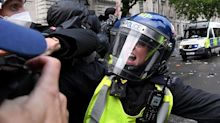 George Floyd: 14 police officers hurt as violence erupts at anti-racism protest in London