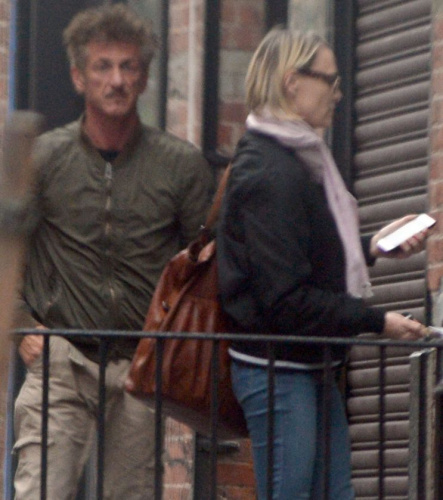 Sean Penn and Robin Wright were spotted together at a New York City apartment.