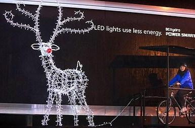 Canadian billboard gets pedal-powered, shows off LED efficiency