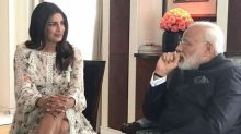 Priyanka Chopra trolled for 'showing legs' to Indian prime minister