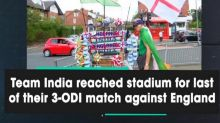 Team India reached stadium for last of their 3-ODI match against England