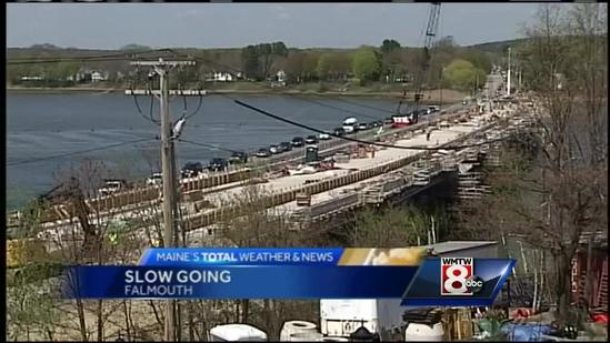 Major road construction starts in Falmouth