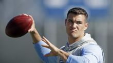 The edge comes out in Mitchell Trubisky when he's asked about a QB battle he lost