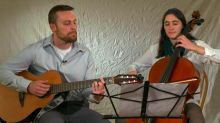 Political rivals in Vermont bring voters hope by performing a duet together after their fierce debate