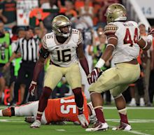 Florida State's Jacob Pugh ejected for targeting after arm hits player's head