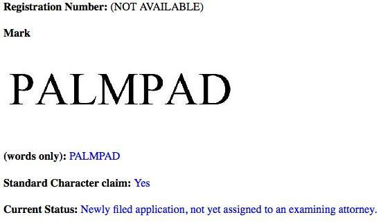 HP files for 'PalmPad' trademark -- a webOS tablet, perhaps?