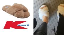 $6 Kmart dupe of the $59.95 slippers Bachelor's Anna Heinrich loves