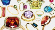 8 Rainbow-Hued Engagement Rings