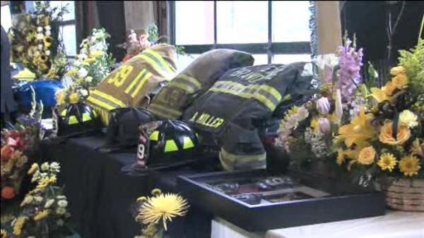 Emotional goodbye for Chester County firefighter