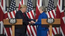 What came of President Trumps visit to the U.K. so far?