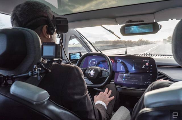 Renault's concept EV drove me at 80MPH while I wore a VR headset