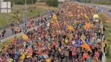 Barcelona Roads Fill With Half a Million Pro-Catalan Protesters
