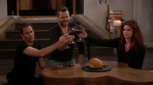 Nick Offerman guest-stars as both Will and Grace's lover