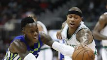 Isaiah Thomas insists he did not curse at Dennis Schröder's mom