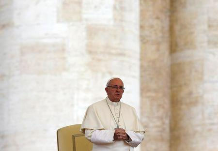 Pope Francis leads the weekly audience at the Vatican