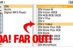 New Creative Zen V Video uncovered on support site?