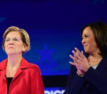 Sen. Elizabeth Warren says Kamala Harris and Kirsten Gillibrand regularly check in on her