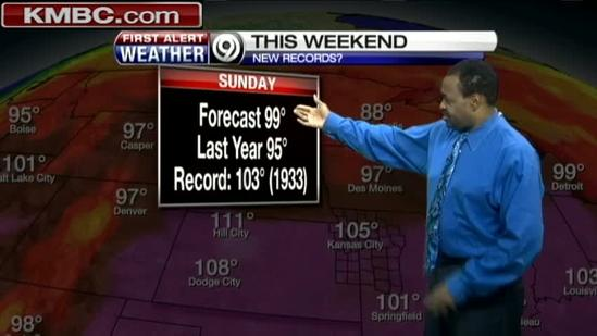 Scorching conditions to linger into next week