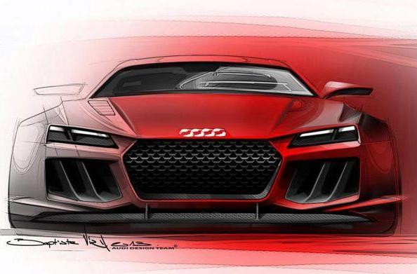 Audi teases 700HP hybrid Quattro Sport e-Tron Concept, A8 Matrix LED lighting