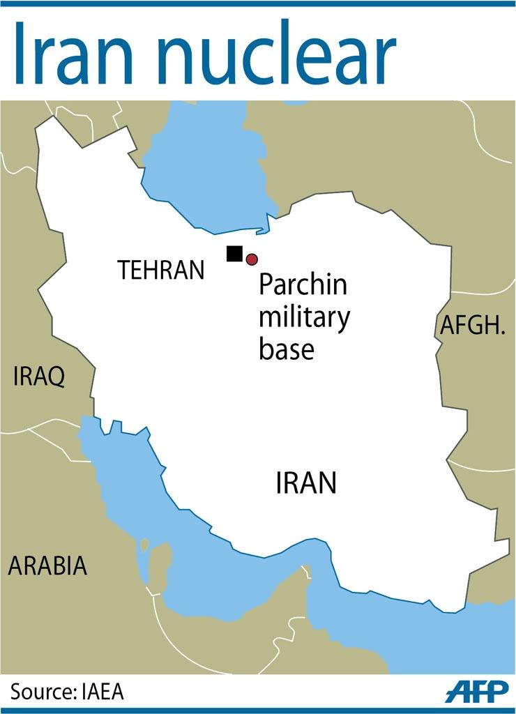 Western intelligence agencies suspect Iran conducted secretive tests at its Parchin military complex near Tehran (AFP Photo/)