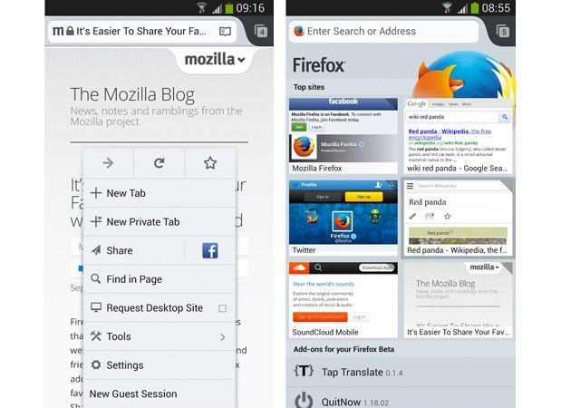 Firefox 25 beta for Android adds guest browsing and mixed content blocking