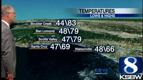 Watch Your KSBW Weather Forecast 05.01.13