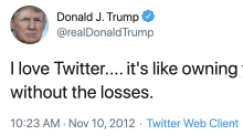 Trump has had a lot to say about Twitter over the past 8 years