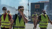 """""""Gilets jaunes"""": heurts à Toulouse dès le début de la manifestation"""