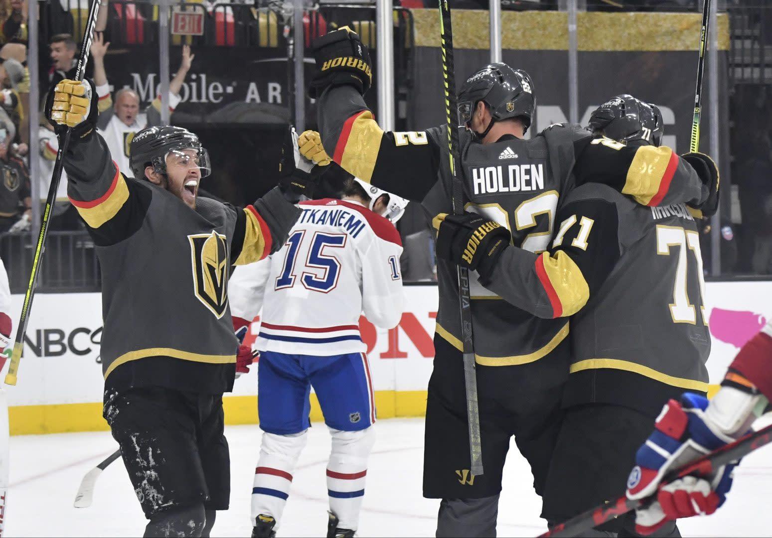 Golden Knights, defensemen handle Canadiens in Game 1