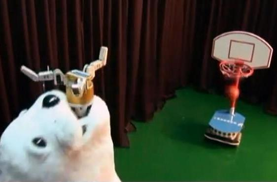 Ball-throwing robot seal has a talent for basketball, embarrassing humans (video)