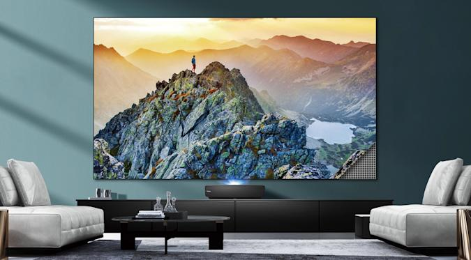 Hisense L5 Series laser projector with 100-inch ALR screen