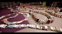Library Sets Off World`s Largest Book Domino Chain