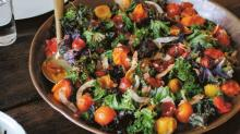 Warm Salad of Roasted Kale, Coconut, and Tomatoes from'A Modern Way To Eat'
