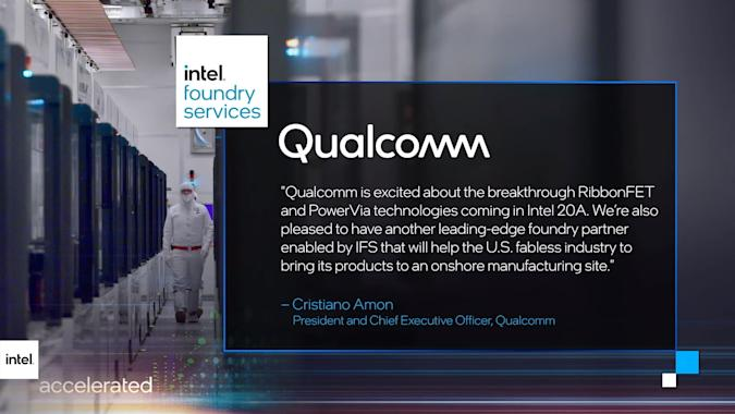 Intel will build chips for Qualcomm as part of its ambitious foundry plans