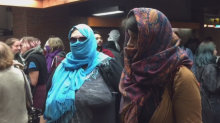 Bill 62 protesters ride Metro wearing niqabs, other face coverings