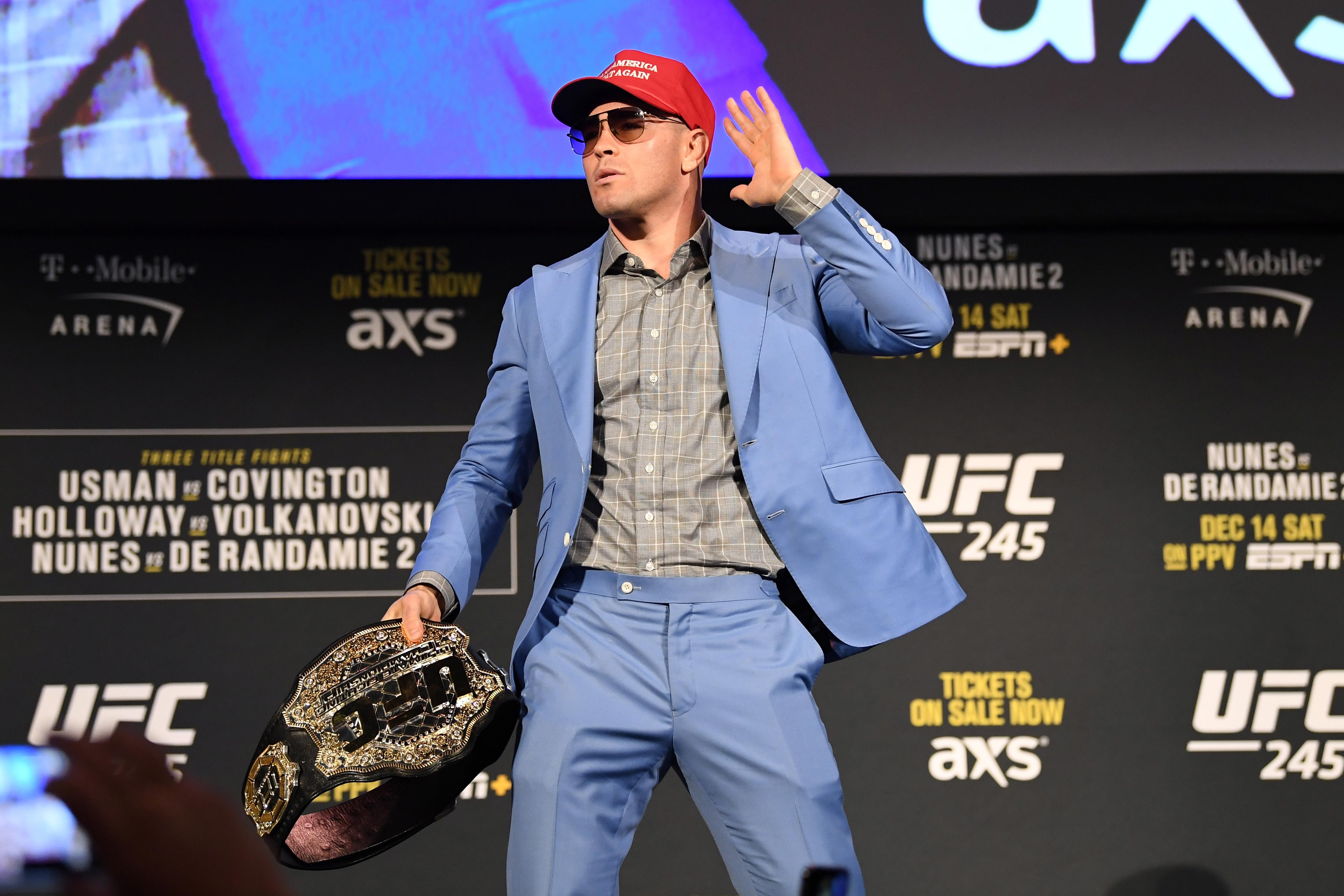 Ufc Everyone Now Sees Through Colby Covington S Trump Act