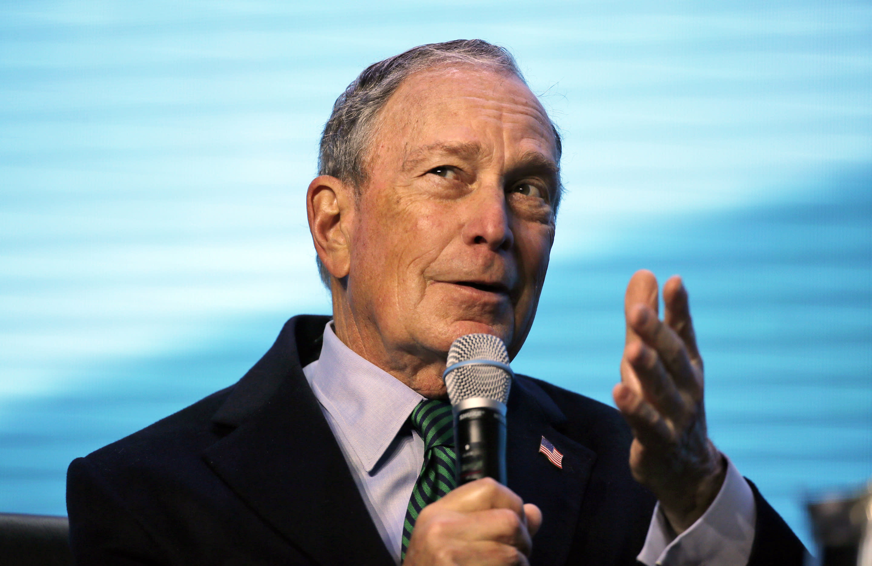 Democrat Bloomberg opens campaign offices in three battleground states