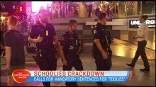 Schoolies crackdown