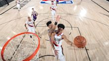 Anfernee Simons works out with retired NBA point guard Darren Collison