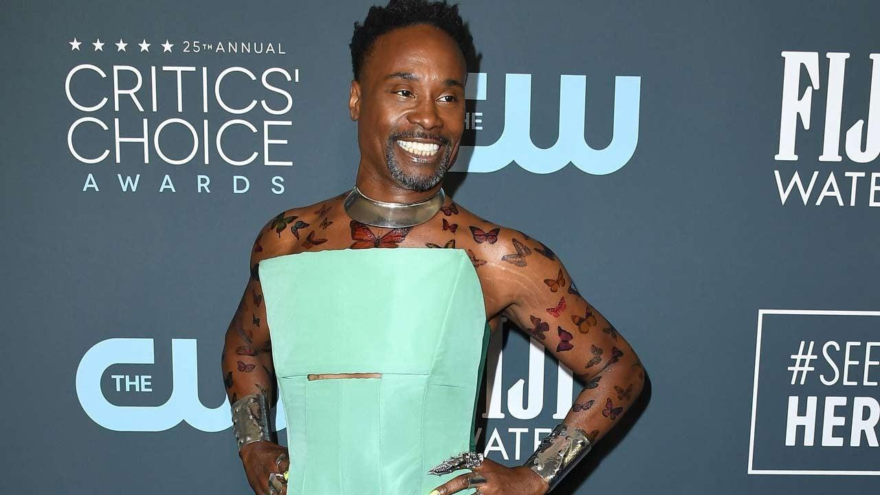 2020 Critics' Choice Awards: Billy Porter Stuns in Two-Tone Teal Jumpsuit Gown