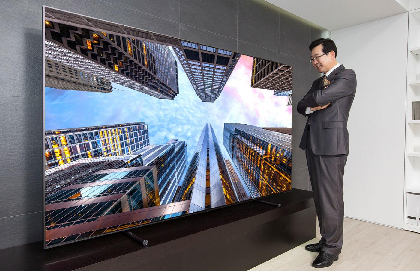 samsung s giant 4k qled tv costs 20 000 engadget samsung s giant 4k qled tv costs 20