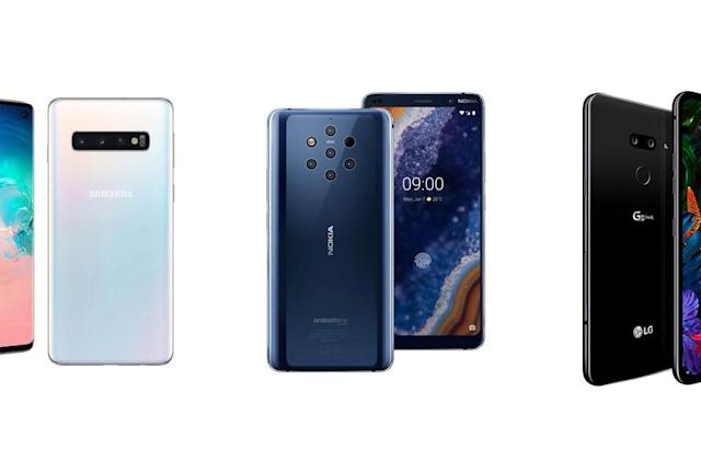 Comparing the Galaxy S10, Nokia 9 and LG G8: Cameras galore