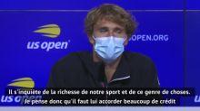 """US Open - Zverev : """"Djokovic se soucie des autres joueurs"""""""