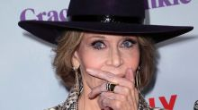 80-year-old Jane Fonda stuns in snakeskin on red carpet
