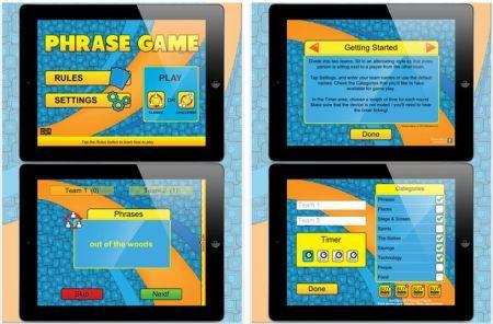 Daily iPad App: Phrase Game is a party game in an app