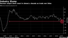 German Industry Suffered Worst Annual Drop in a Decade in June