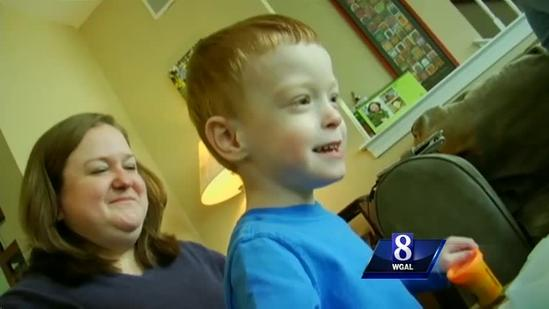 Premature boy helped by CMN-provided equipment