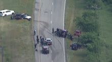 2 Dallas homicide suspects, Hill County constable shot in interstate gunfight from cars